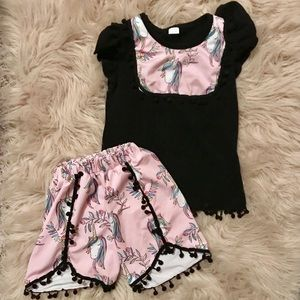 Boutique unicorn outfit 3T